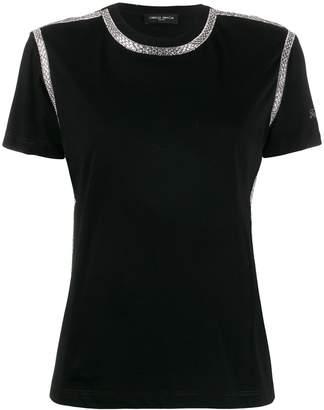 Frankie Morello rhinestone-trimmed crew-neck T-shirt