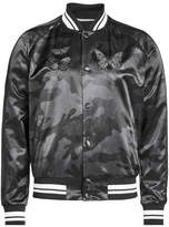Valentino Embroidered Camouflage Bomber