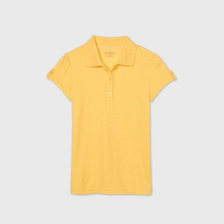 Cat & Jack Girls' Short Sleeve Interlock Uniform Polo Shirt - Cat & JackTM