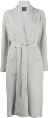 Roberto Collina Belted Merino Wool Cardi-Coat