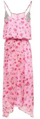 Dodo Bar Or Asymmetric Crystal-embellished Chiffon Dress
