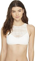 Roxy Women's Drop Diamond Crochet Crop Bikini Top