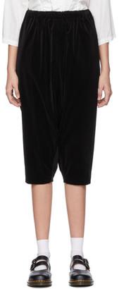 Comme des Garcons Black Velveteen Drop Crotch Trousers