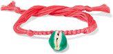 Aurelie Bidermann Braided cotton cord shell bracelet