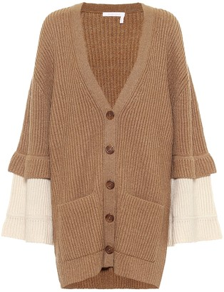 See by Chloe Ribbed-knit wool-blend cardigan