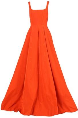 Oscar de la Renta Moire Faille Sleeveless Gown