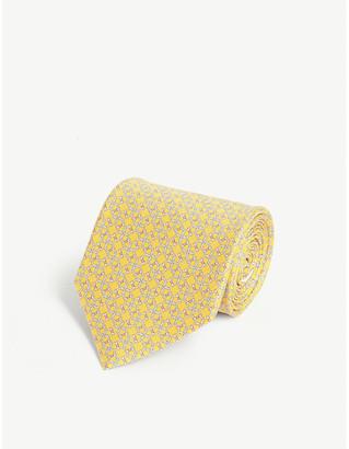 Salvatore Ferragamo Gancini link print silk tie