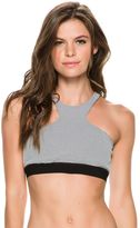 Blue Life Jacquard Sports Bra