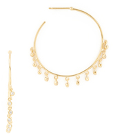 Tai Pave Hoop Earrings