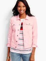 Talbots The Classic Denim Jacket-Compact Pink & White
