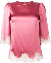 Dolce & Gabbana lace trim boxy blouse
