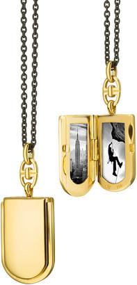 Monica Rich Kosann 18K Yellow Gold Horseshoe Locket w/ Curb Bail
