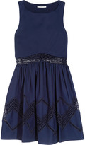 Rebecca Minkoff Tess crochet-trimmed cotton mini dress
