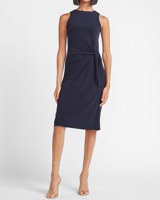 Express Sleeveless Side Tie Midi Sheath Dress