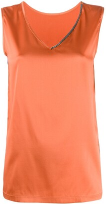 Fabiana Filippi Satin Tank Top