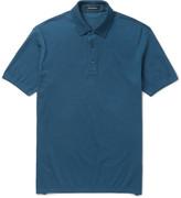 Ermenegildo Zegna - Slim-fit Cotton-piqué Polo Shirt