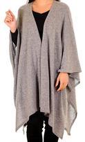 Black Warm Grey Cashmere Coatigan
