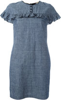 Burberry ruffled detail dress - women - Cotton - 6