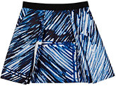 Milly SCRIBBLE-PRINT PLEATED SKIRT-BLUE SIZE 12