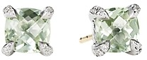 David Yurman Chatelaine Stud Earrings with Prasiolite and Diamonds