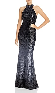 Aqua Ombre Sequined Gown - 100% Exclusive