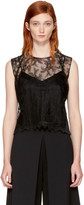 Alexander Wang Black Lace Necklace Tank Top