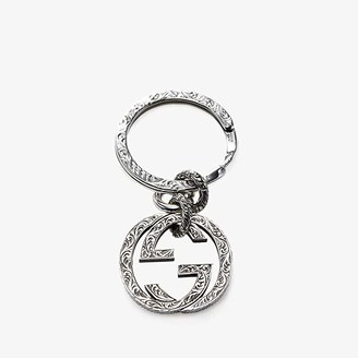 Gucci Interlocking Key Ring (Silver) Wallet