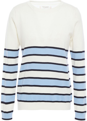 Chinti and Parker Striped Ribbed Cashmere Sweater