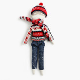 J.Crew Kids' Jess Brown® for crewcuts doll in Fair Isle and denim