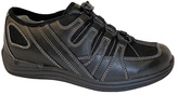 DREW Black Daisy Leather Walking Shoe
