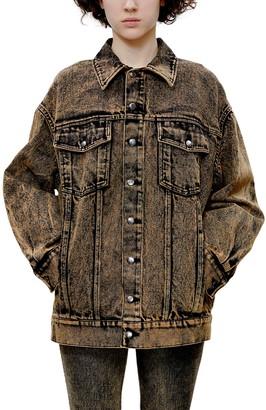 Eckhaus Latta Nouveau Acid Wash Denim Jacket