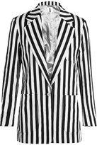 Topshop Harleyford Striped Cotton-Blend Blazer