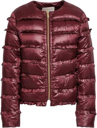 MICHAEL Michael Kors Ruffled Quilted Shell Down Jacket
