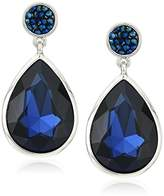 Kenneth Cole New York Dark Faceted Stone Post Drop Earrings