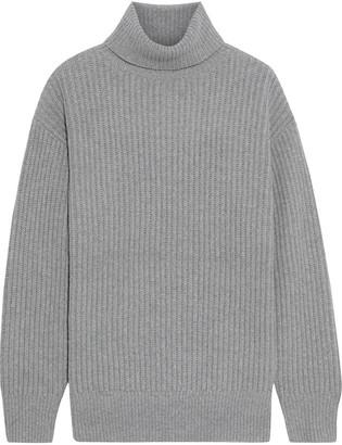 Iris & Ink Astrid Ribbed Wool-blend Turtleneck Sweater