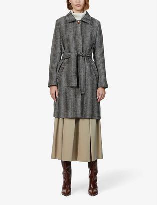 Sessun Belted wool-blend coat