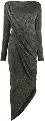 Vivienne Westwood Glittered Asymmetric Hem Dress