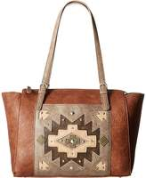 American West Earth Bound Zip Top Tote Tote Handbags