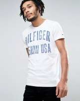Tommy Hilfiger Large Logo T-Shirt in White