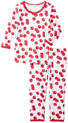 esme 3/4 Sleeve Top Crop Leg (Little Kids) (Starburst) Girl's Pajama Sets