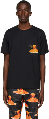 Paul Smith 50th Anniversary Black Spaghetti Pocket T-Shirt