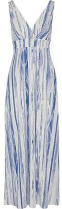 Tart Collections Wrap-effect Printed Modal-blend Jersey Maxi Dress