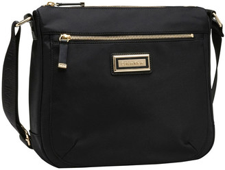 Calvin Klein Dressy Nylon Messenger Bag Black/Gold