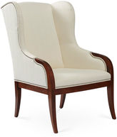 Massoud Furniture Anne Wingback Chair, White Crypton