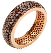 Artisan 14K Rose Gold & 1.85 Total Ct. Brown Diamond Eternity Band Ring