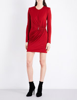 Thierry Mugler Ruched-sides jersey dress