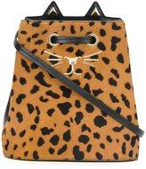 Charlotte Olympia 'Feline' bucket shoulder bag