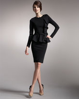 Valentino Knit Godet-Back Pencil Skirt