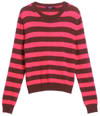 Max Mara Striped Mohair-Blend Sweater