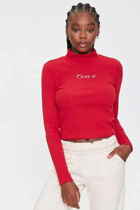 Forever 21 Over It Mock Neck Top